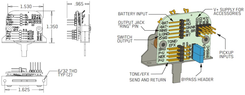 EMG 3 POS Switch 3х позиционный переключатель