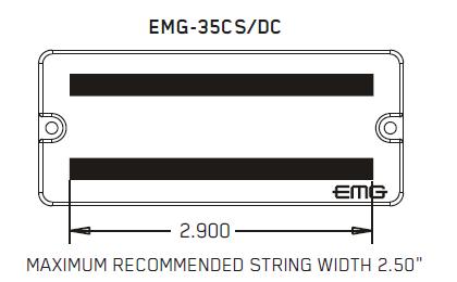 Размеры магнитов EMG 35DC 35CS
