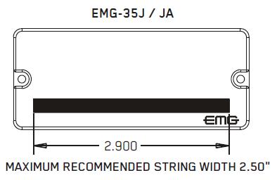 Размеры магнитов EMG 35J, JA