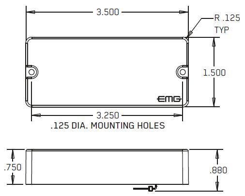 Размеры EMG 35P4, 35P4A, 35J, 35JA, 35P5, 35CS, 35DC