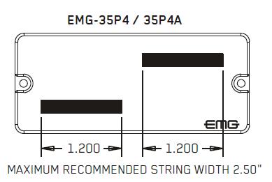 Размеры магнитов EMG 35P4, 35P4A