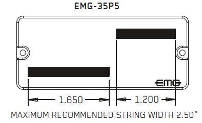 Размеры магнитов EMG 35P5