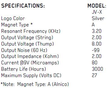 EMG JVX SET параметры