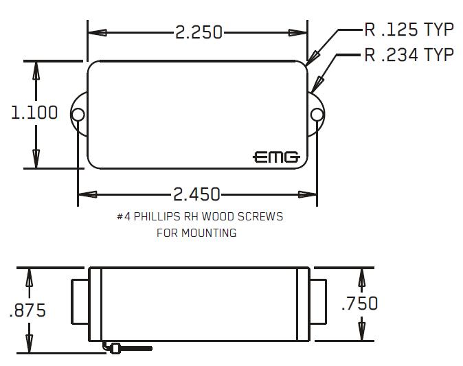 Размеры P, PA, P-CS (4-STRING) P5 (5-STRING) P6, P6-CS (6-STRING)