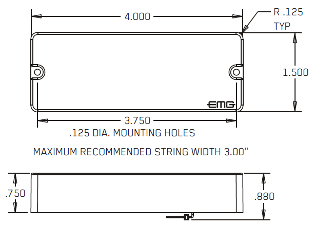 Размеры EMG 40P5, 40J, 40JCS, 40CS, 40DC, 40P, 40PCS