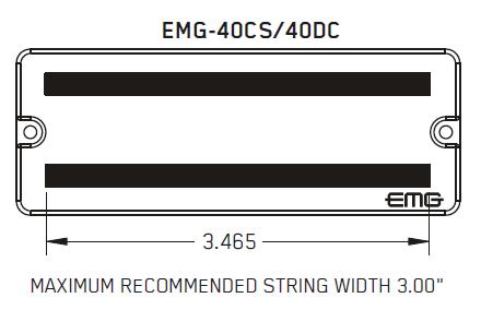 Размеры магнитов EMG 40DC 40CS