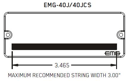 Размеры магнитов EMG 40J