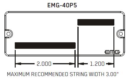 Размеры магнитов EMG 40p5