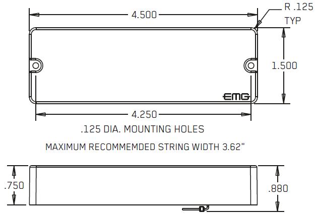 Размеры EMG 45P5, 45J, 45JCS, 45CS, 45DC, 45P, 45PCS