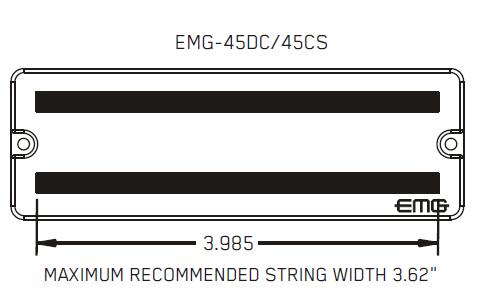 Размеры магнитов EMG 45DC 45CS