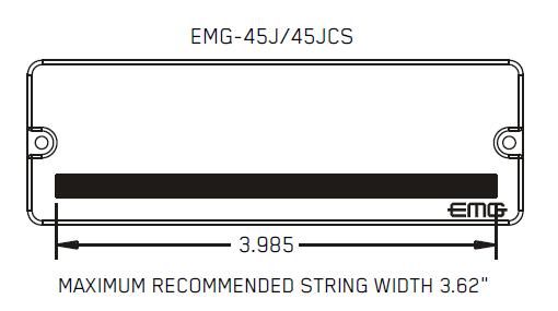 Размеры магнитов EMG 45J 45JCS