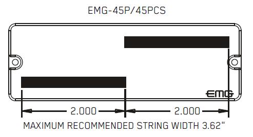 Размеры магнитов EMG 45PX 45PCSX