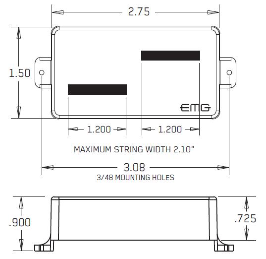 Размеры EMG HBCS-X