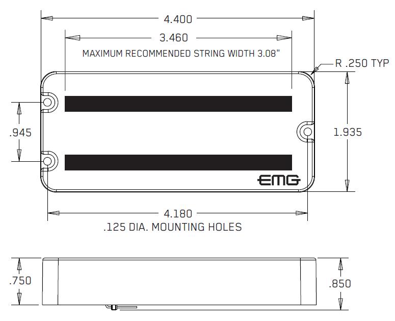 Размеры EMG MM5TW