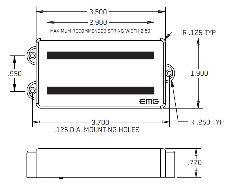 Размеры EMG MMTW