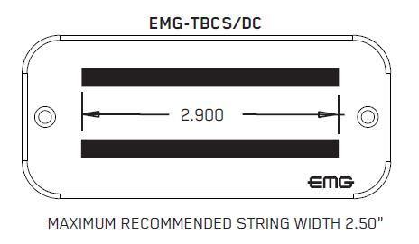 Размеры EMG TBCS