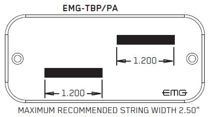 Размеры EMG TBP