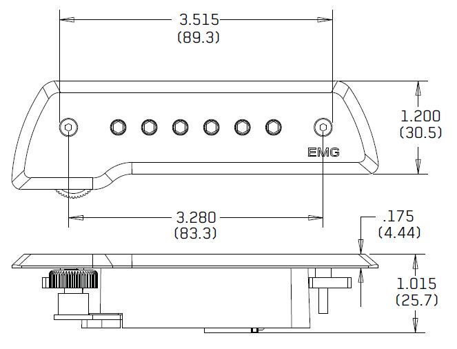 Размеры EMG ACS