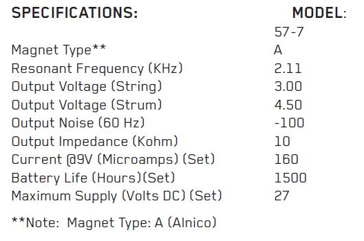 EMG-57-7 параметры